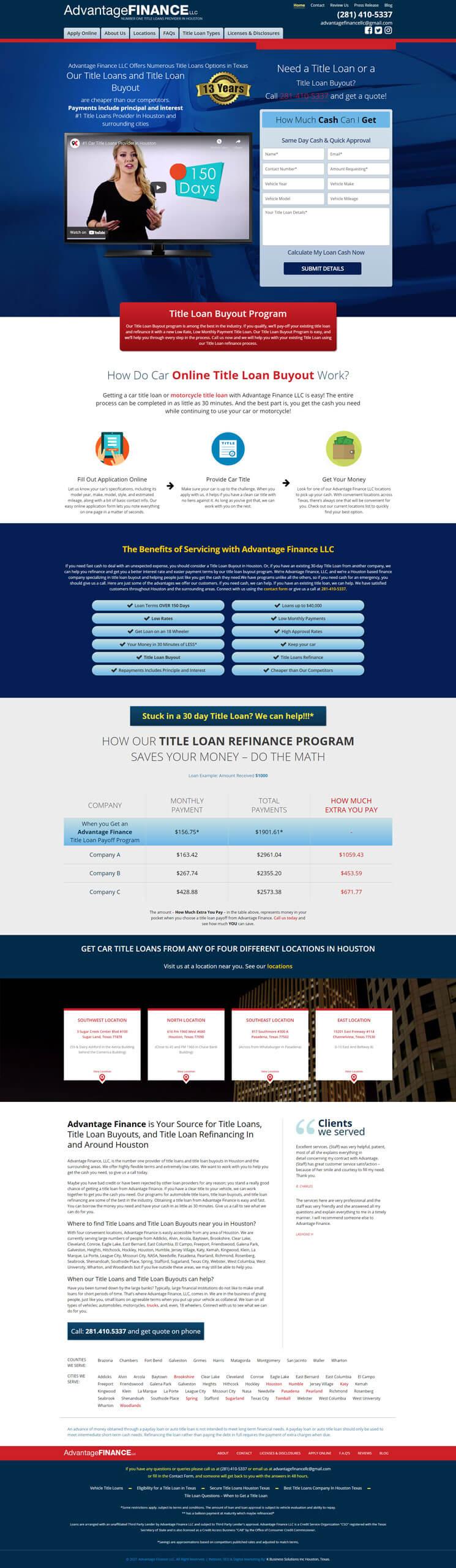 Advantage Finance LLC