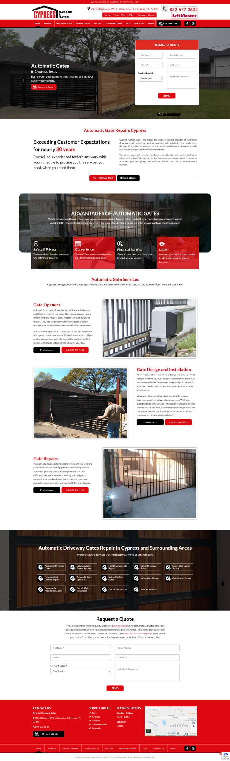 Cypress Garage Door & Gates