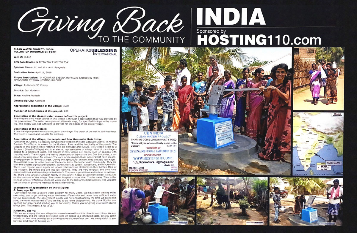 Giving Back To The Community - India