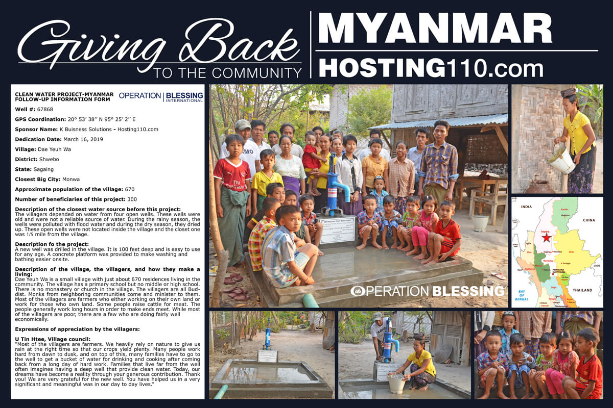 Giving Back To The Community - Myanmar