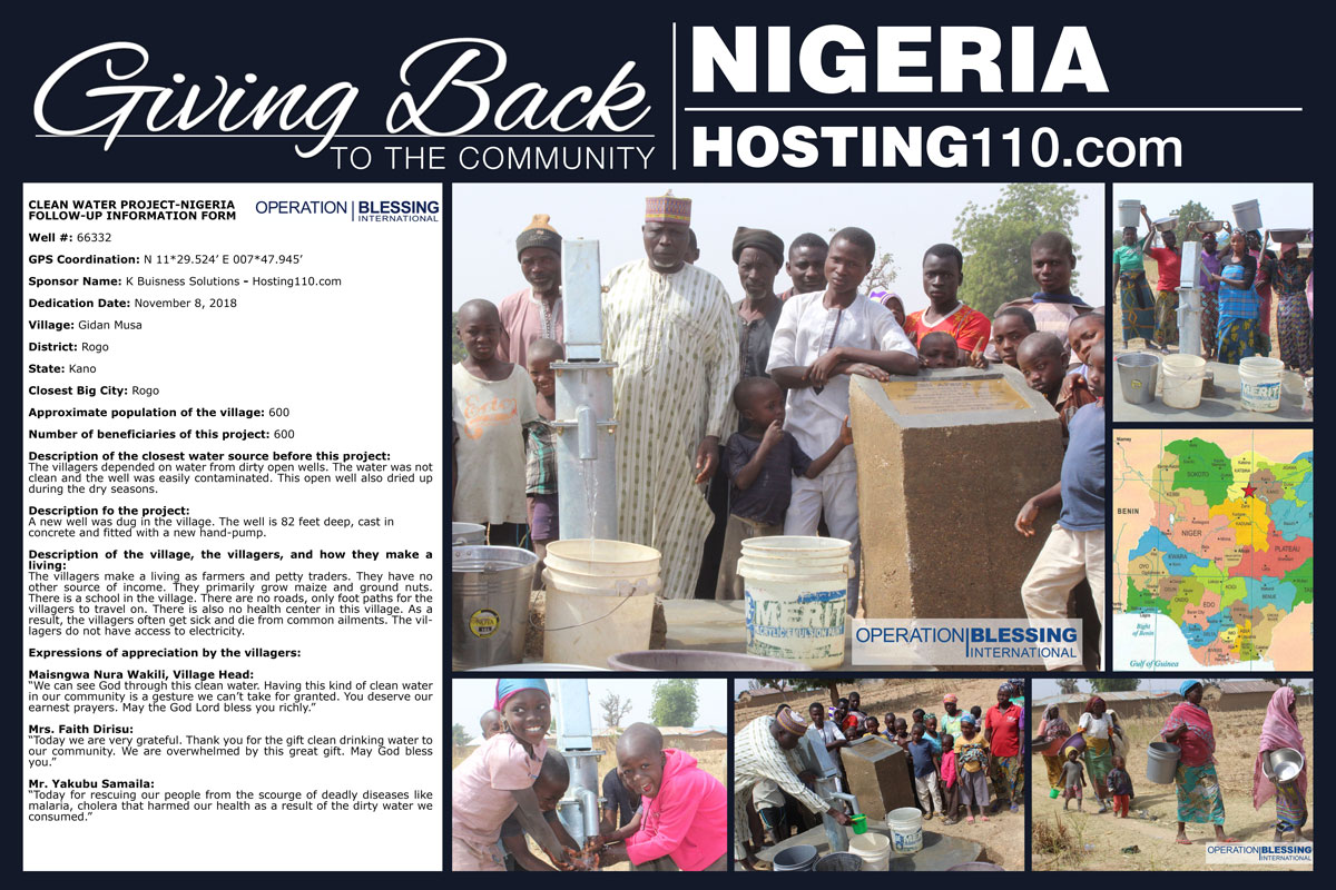 Giving Back To The Community - Nigeria