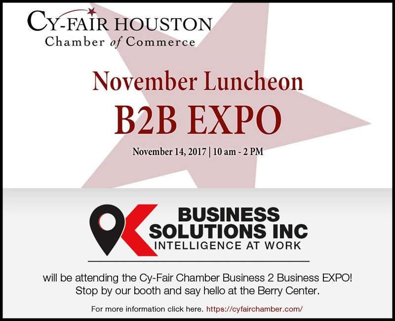Cy-Fair B2B Expo November 2017
