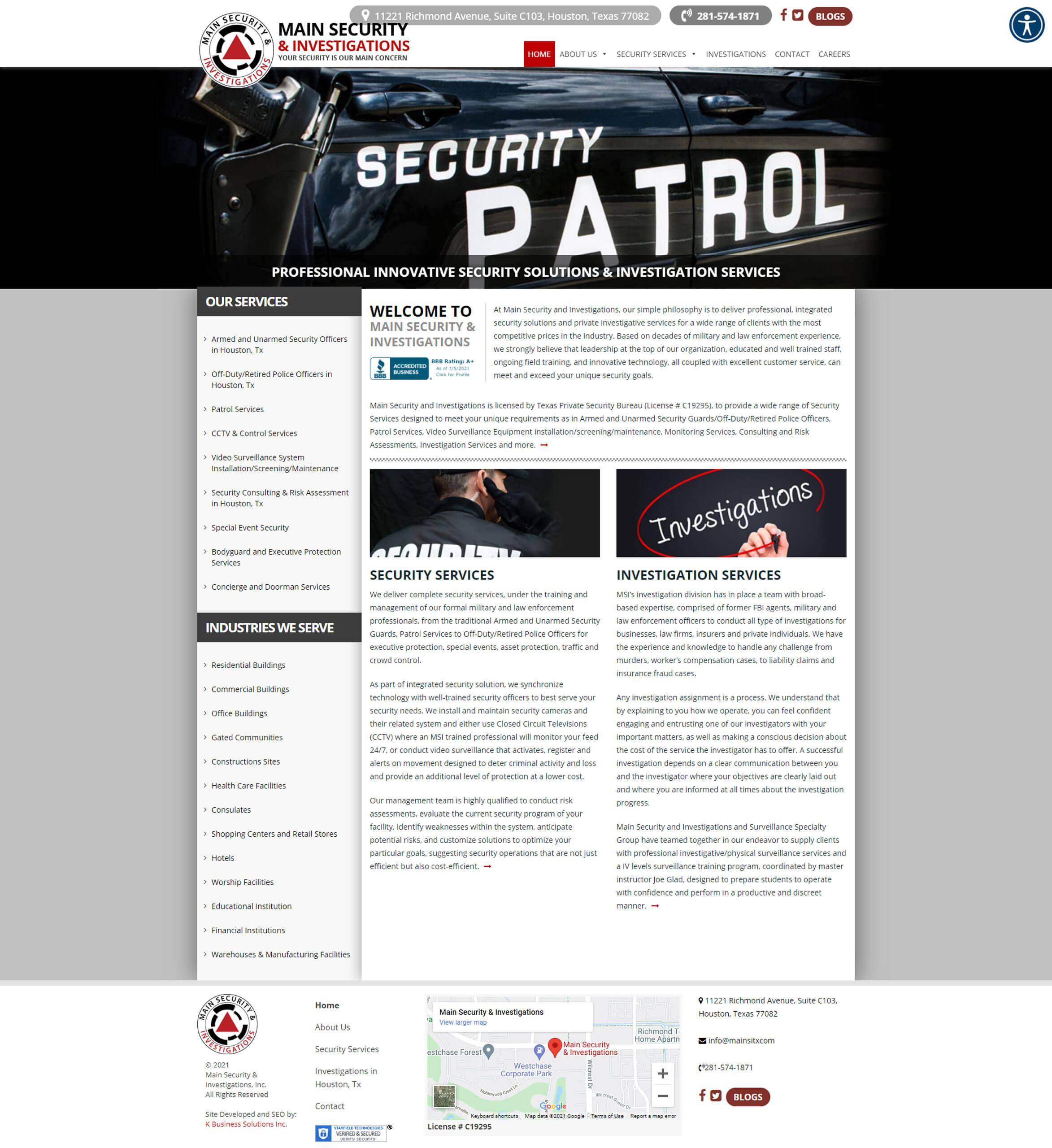 Main Security Inc