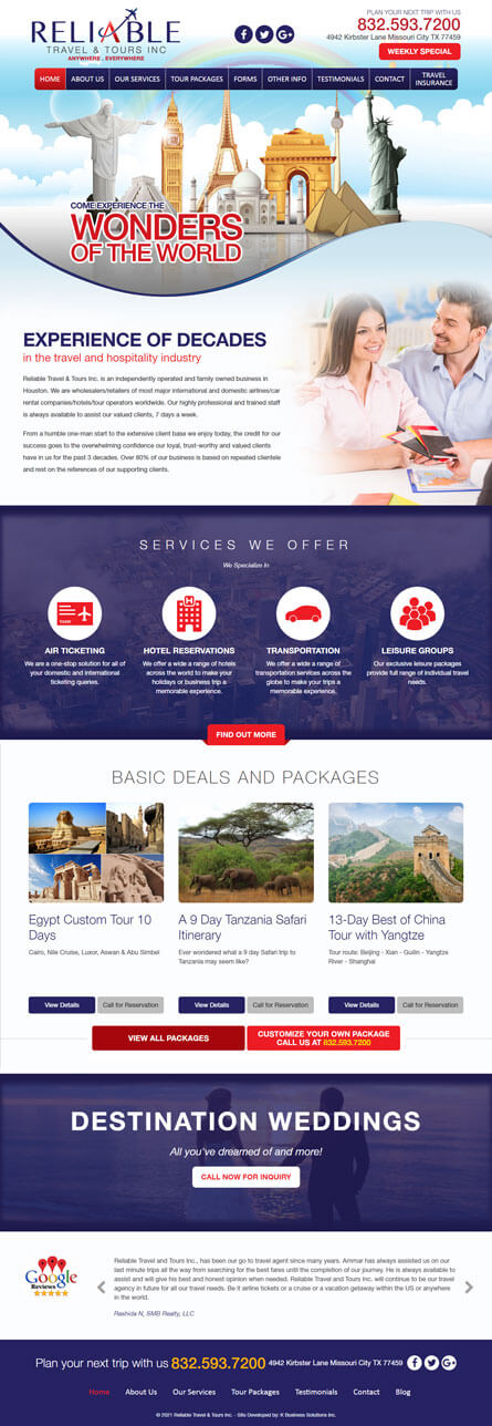 Reliable Travel and Tours